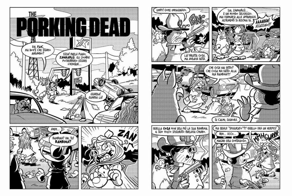 Il delirante inizio di The Porking Dead